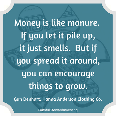 money is like manure quote